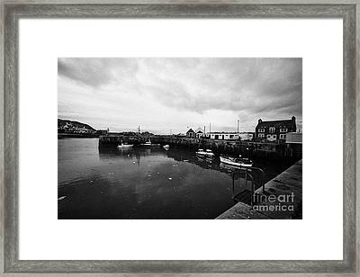Portpatrick Harbour Scotland Uk Framed Print by Joe Fox