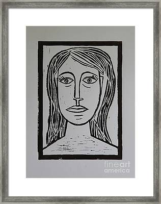 Portrait A La Picasso Framed Print by Christiane Schulze Art And Photography