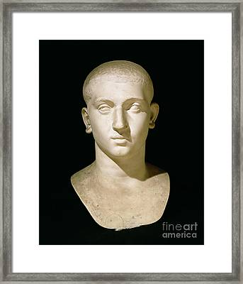 Portrait Bust Of Emperor Severus Alexander Framed Print by Anonymous