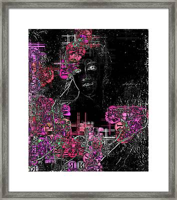 Portrait In Black - S01-02b Framed Print by Variance Collections