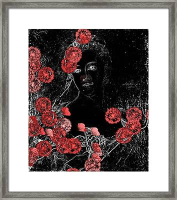 Portrait In Black - S0201b Framed Print by Variance Collections
