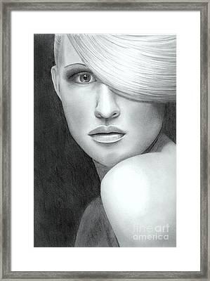 Portrait Framed Print by Nicola Butt