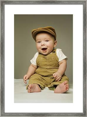 Portrait Of A Baby Boy Framed Print by Kelly Redinger