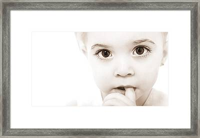 Portrait Of A Baby Framed Print by Chris and Kate Knorr