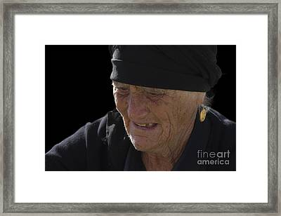 Portrait Of A Fishermans Wife Framed Print by Heiko Koehrer-Wagner