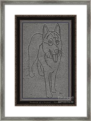 Portrait Of A Friend Poaf00002 Framed Print by Pemaro