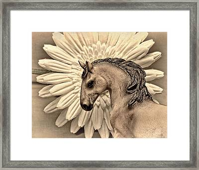 Portrait Of A Horse Framed Print by Jeff  Gettis