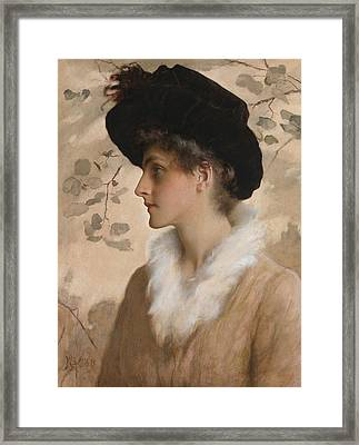 Portrait Of A Lady 1888 Framed Print by George Henry Boughton