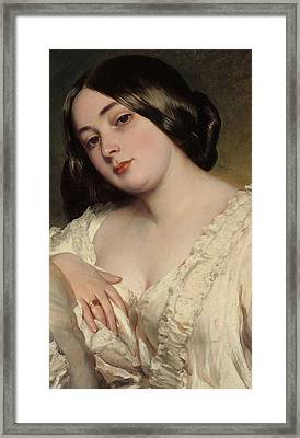 Portrait Of A Lady Framed Print by Franz Xaver Winterhalter