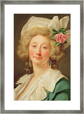 Portrait Of A Lady Framed Print by Jean Francois Colson