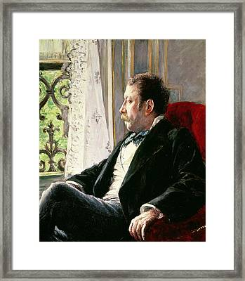 Portrait Of A Man Framed Print by Gustave Caillebotte