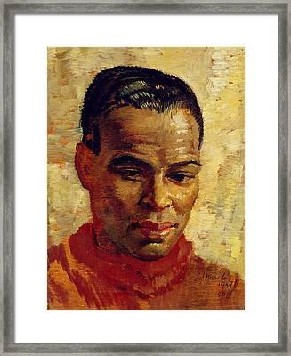 Portrait Of A Man, Possibly Henry Framed Print by Glyn Warren Philpot