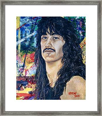Portrait Of A Musician Framed Print by Karon Melillo DeVega