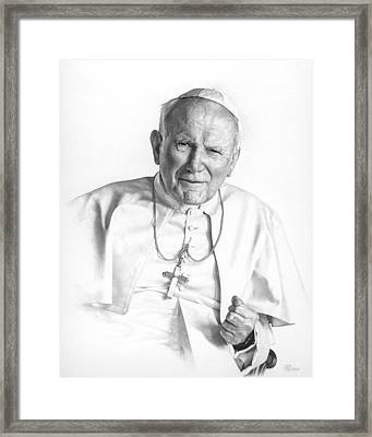 Portrait Of A Saint Framed Print by Smith Catholic Art