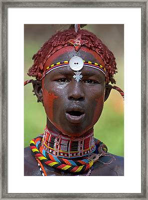 Portrait Of A Samburu Tribal Framed Print by Panoramic Images