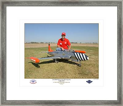 Portrait Of A Shooting Star - Jeff Lovitt And His Lockheed T-33 Framed Print by Ken Young