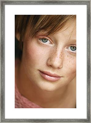Portrait Of A Teenage Girl Framed Print by Don Hammond