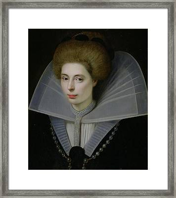 Portrait Of A Woman  Framed Print by Dutch School
