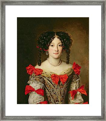 Portrait Of A Woman Framed Print by Jacob Ferdinand Voet