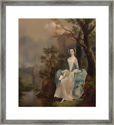 Portrait Of A Woman Framed Print by Mountain Dreams