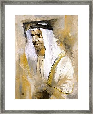 Portrait Of Abdullah Bin Zayed Al Nahyen 3 Framed Print by Maryam Mughal