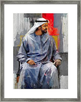 Portrait Of Abdullah Bin Zayed Al Nahyen 7 Framed Print by Maryam Mughal