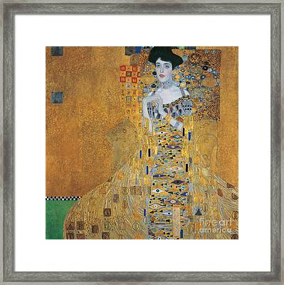 Portrait Of Adele Bloch-bauer I Framed Print by Gustav Klimt