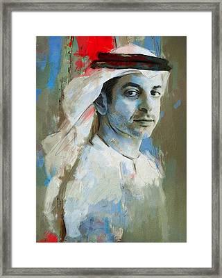 Portrait Of Ahmed Bin Zayed Al Nahyan Framed Print by Maryam Mughal