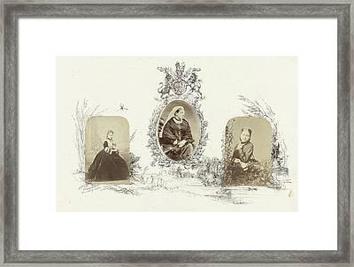 Portrait Of Alexandra, Princess Of Wales Bordered Framed Print by Artokoloro