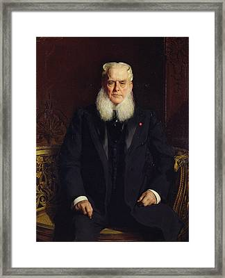 Portrait Of Alfred Chauchard 1821-1909 1896 Oil On Canvas Framed Print by Constant