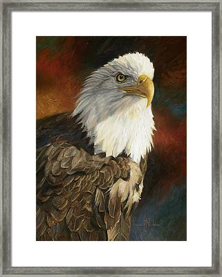 Portrait Of An Eagle Framed Print by Lucie Bilodeau