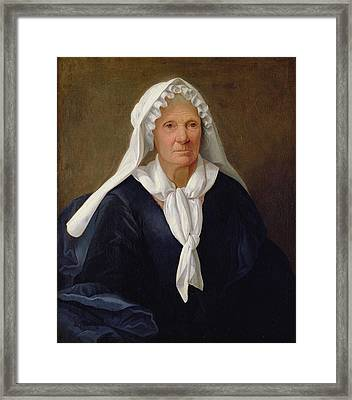 Portrait Of An Old Woman Framed Print by French School