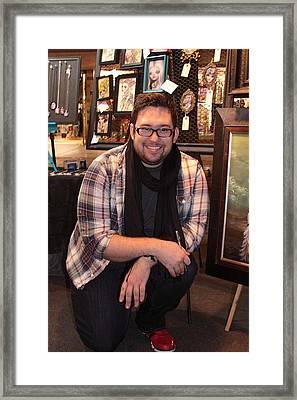 Portrait Of Artist   Kurtis Framed Print by Viktor Savchenko