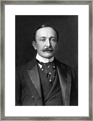 Portrait Of August Belmont Jr. Framed Print by Underwood Archives