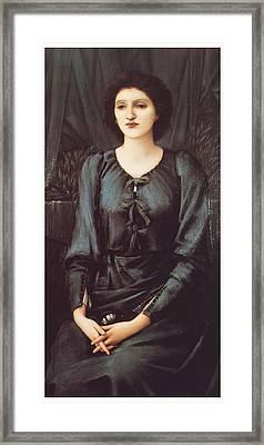 Portrait Of Baronne Madeleine Deslanders Framed Print by Edward Burne-Jones