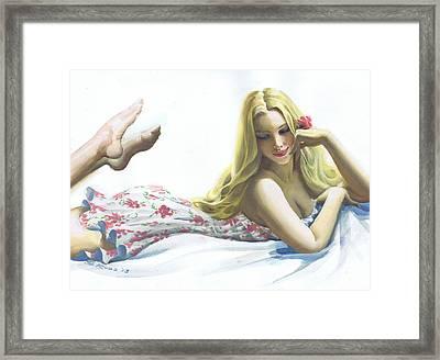 Portrait Of Beauty #9 Framed Print by Steve Rude