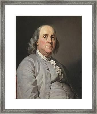 Portrait Of Benjamin Franklin Framed Print by Celestial Images