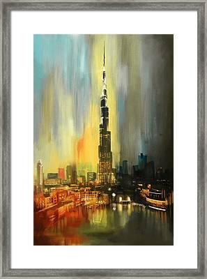 Portrait Of Burj Khalifa Framed Print by Corporate Art Task Force