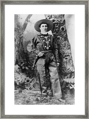 Portrait Of Calamity Jane Framed Print by Underwood Archives