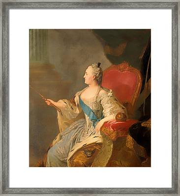 Portrait Of Catherine II Framed Print by Mountain Dreams