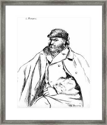 Portrait Of Cezanne, 1874 Framed Print by Camille Pissarro