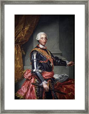 Portrait Of Charles IIi Of Spain Framed Print by Celestial Images