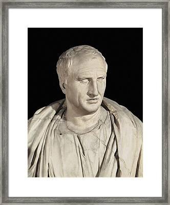 Portrait Of Cicero. Ca.   50 Bc. Roman Framed Print by Everett