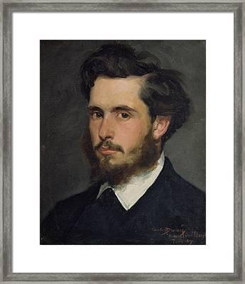 Portrait Of Claude Monet 1840-1926 1867 Oil On Canvas Framed Print by Charles Emile Auguste Carolus-Duran