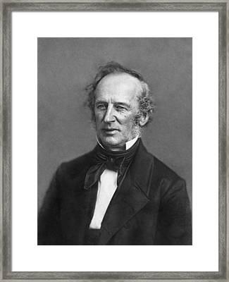 Portrait Of Cornelius Vanderbilt Framed Print by Matthew Brady