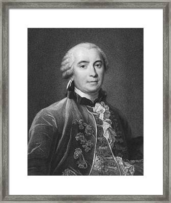 Portrait Of Count De Buffon Framed Print by Underwood Archives