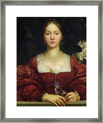 Portrait Of Countess Of Airlie Framed Print by George Frederick Watts