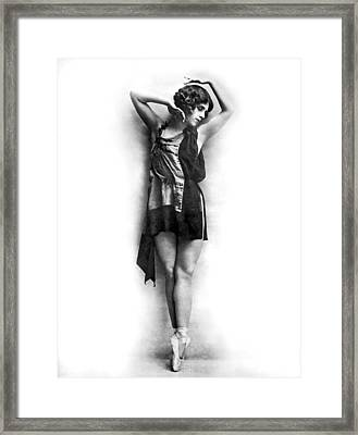Portrait Of Dancer Agnes Boone Framed Print by Underwood Archives