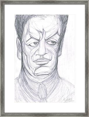 Portrait Of Diego Rivera Framed Print by Cindy MILLET