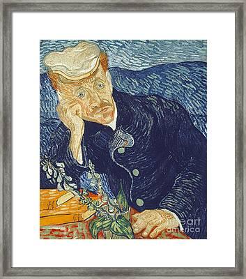 Portrait Of Dr Gachet Framed Print by Vincent Van Gogh